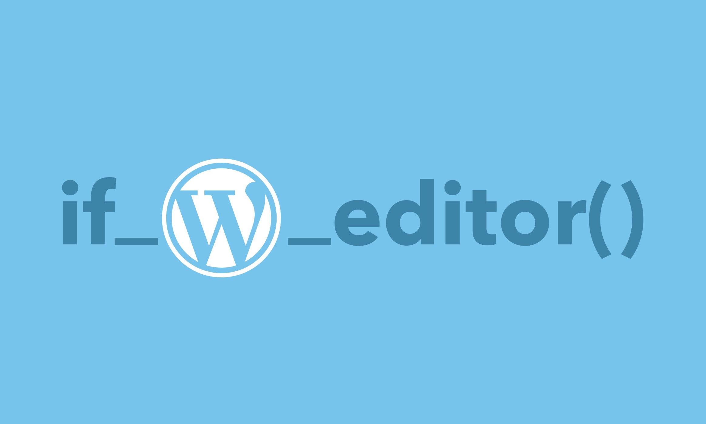 Wordpress Editor Check